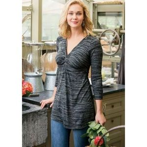 Soft Surroundings Kate Tunic in size L, gray